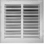 White Return Air Filter Grilles
