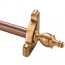 Zoroufy Heritage Collection Antique Brass 1/2 inch Smooth Tubular Rod - Crown Finials