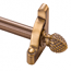 Zoroufy Heritage Collection Antique Brass 1/2 inch Smooth Tubular Rod - Pineapple Finials