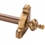 Zoroufy Heritage Collection Antique Brass 1/2 inch Smooth Tubular Rod - Urn Finials