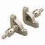 Zoroufy Heritage Collection Satin Nickel 1/2 inch Smooth Tubular Rod - Crown Finials