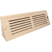 Triangular Wood Baseboard with Damper