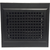 Black Gravity Baseboard Register - Decorative Baseboard Diffuser