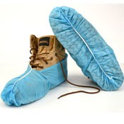 Blue Disposible Shoe Covers - Economical Lots