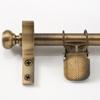 Zoroufy Classic Wall Hanger Antique Brass - Round Finials