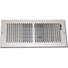 Large Wall Vents - White Steel