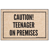 Sarcastic Welcome Mat - Caution Teenager On Premises