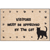 Cat Doormat - Visitors Approved By Cat