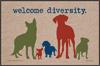 Funny Dog Doormat - Welcome Diversity