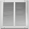 White Steel Return Air Grill