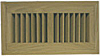 High Output Flush Wood Vent - White Oak