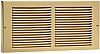 Brass Baseboard Return Grill