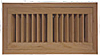 High Output Flush Wood Vent - American Cherry