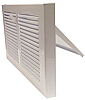 White Steel Baseboard Register With Plate Damper