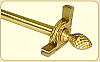 Dynasty Collection Brushed Brass - Smooth Tubular Rod - Pineapple Finials