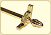 Dynasty Collection Brushed Brass - Smooth Tubular Rod - Acorn Finals