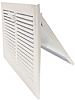 White Steel Sidewall Register - Flap Damper
