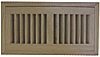 High Output Flush Wood Vent - Red Oak