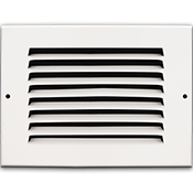 White return air grille for wall or ceiling
