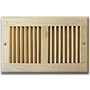 Unfinished Wood Wall Return Air Grille