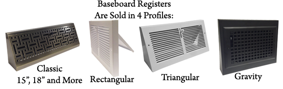 Baseboard Register Vent Covers Available