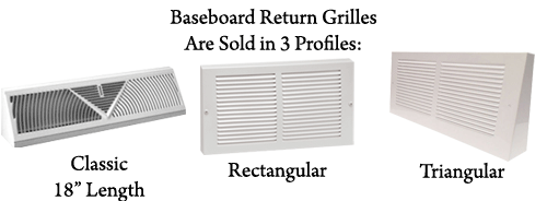 Baseboard Return Grille Vent Coveres