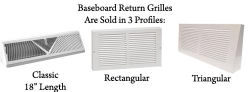 Baseboard Return Baseboard Grille