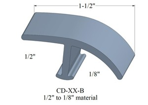 Johnsonite CD-XX-B TMolding 1/2 inch to 1/8 inch