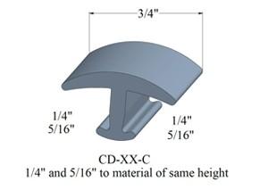 Johnsonite skinny t-molding 3/4 inch width