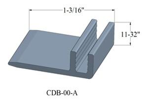 Johnsonite Flexible Vinyl Track Base for T-Moldings