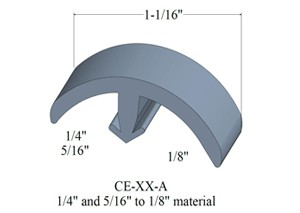 Flexible T molding for floor transition