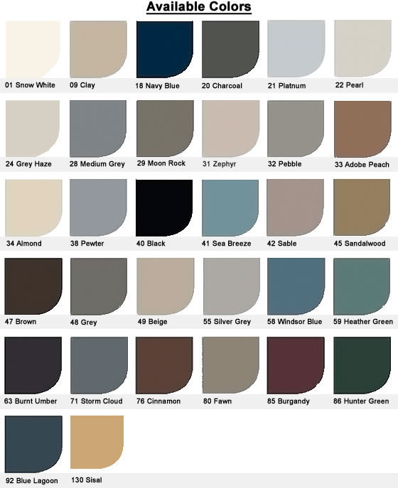 Johnsonite T-Molding Colors