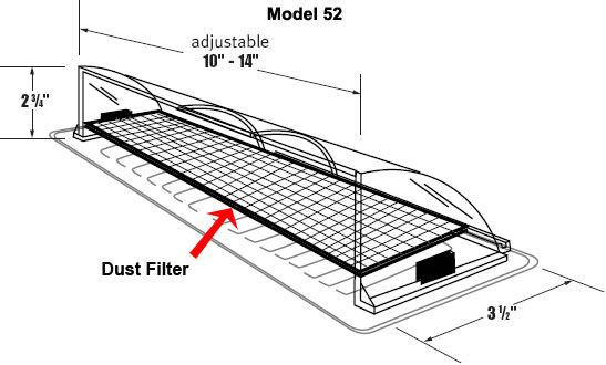 Deflector With Air Filter For Floor Registers