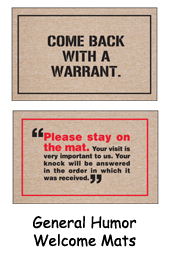 Hilarious Welcome Mats - Installerstore Coupon Code Event