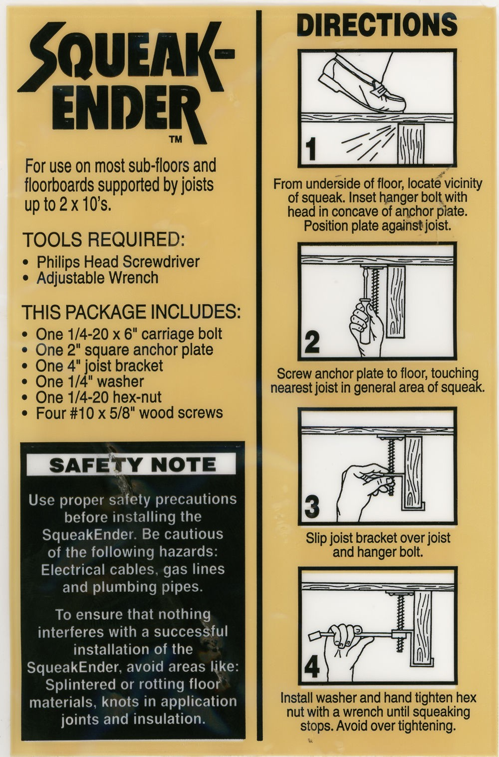 How to fix hardwood floors that squeak - Click Image For Instructions