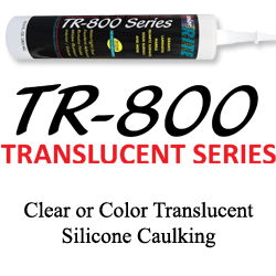 Clear or Color Translucent Silicone Caulking TR-800