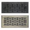 Wicker Floor Register Vents