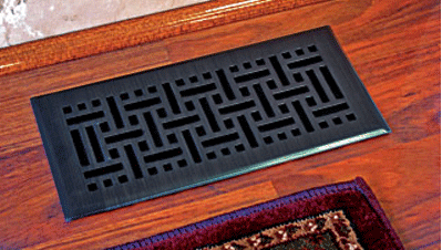 Wicker Oil Rubbed Bronze Floor Register Vents