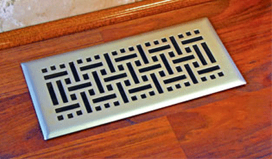 Nickel Wicker Floor Register Vent