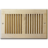 Unfinished Wood Wall Register - Wood Sidewall / Ceiling Vent